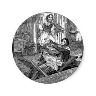 Sweeney Todd Barbers Chair Penny Dreadful Round Sticker