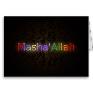 MashaAllah   Islamic phrase   best wishes greeting Greeting Card