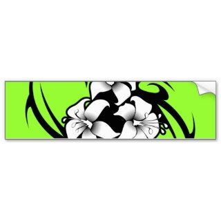 TROPICAL FLOWER VECTOR TATTOO GRAPHICS TOUGH LOGO BUMPER STICKERS
