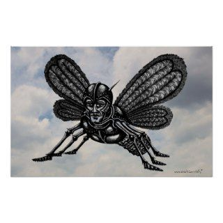 Mothman abstract graphic art poster design