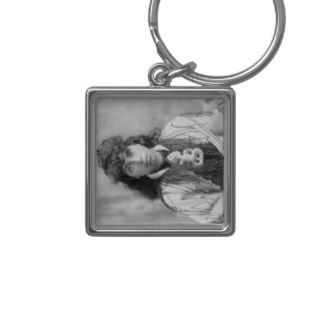 Maori Woman in Traditional Dress Photograph Keychains