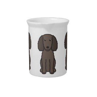 American Water Spaniel Dog Cartoon Drink Pitcher