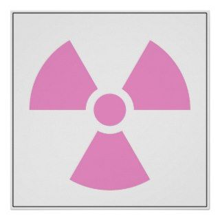 Radiation Trefoil Sign Symbol Warning Sign Symbol Print