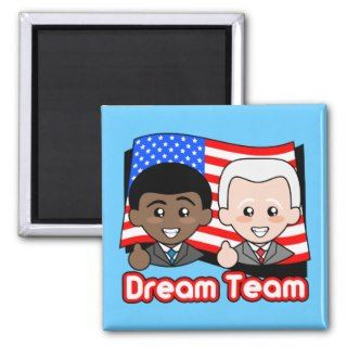 Cute Obama & Biden Fridge Magnet
