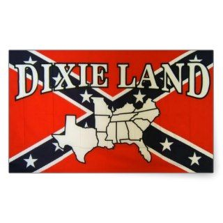 DIXIE LAND CSA CONFEDERATE FLAG RECTANGLE STICKERS