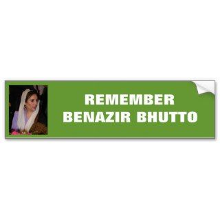 Benazir Bhutto bumper sticker #1 with photo