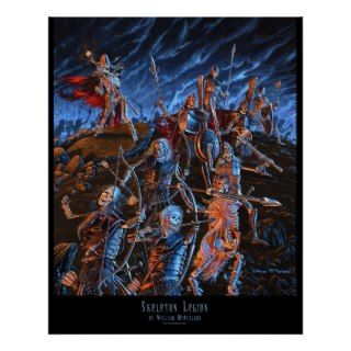 Outland Arts Skeleton Legion 16x20 POSTER