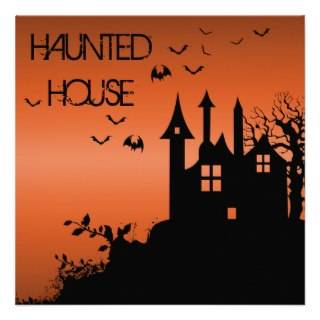 Spooky Haunted House Invitation