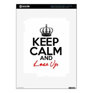 Keep Calm And Lace Up iPad 3 Skin