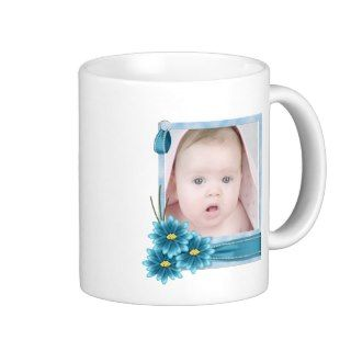 pink Daisy Baby Girl Personalized Photogift Coffee Mugs
