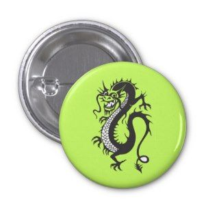 Dragon Tattoo Fantasy Fiction Drawing Cartoon Art Buttons