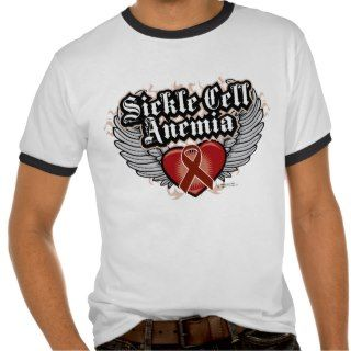 Sickle Cell Anemia Wings Tee Shirts