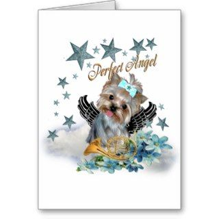 Yorkshire Terrier Perfect Angel copy Greeting Card