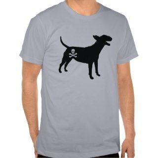 English Bull Terrier / Jolly Roger Pirate Flag Tee