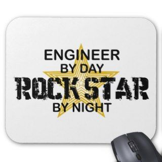 Engineer Rock Star by Night Mouse Pads