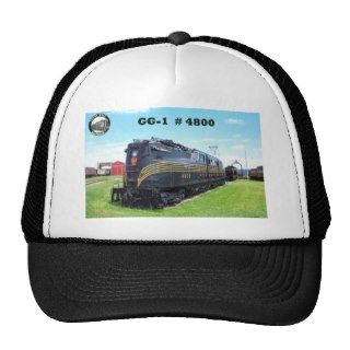 Pennsylvania Railroad Locomotive GG 1 #4800  2  Trucker Hat