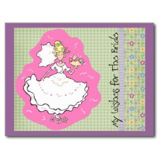 Bridal Shower Marital Advice & Wishes Cards Postcards