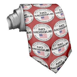 No Mosque At Ground Zero Necktie