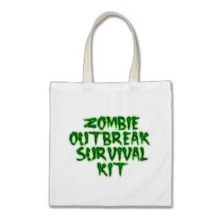 zombie outbreak survival kit tote bags