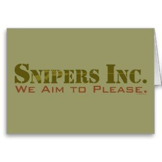 Snipers, Inc. Card