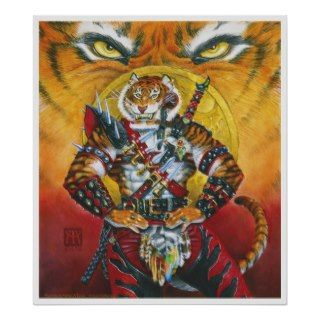 Werecat Warrior Print