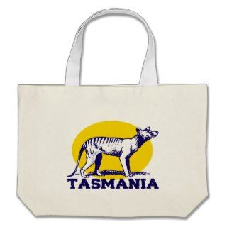 Tasmanian wolf canvas bag