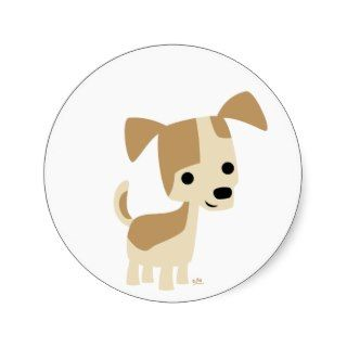 Inquisitive little dog cartoon sticker