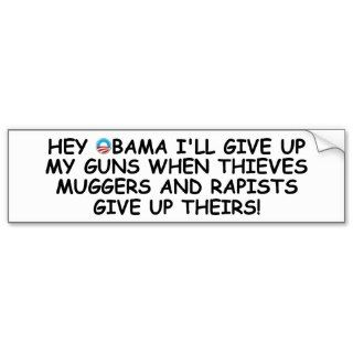Anti Obama pro guns no more Obama Bumper Sticker
