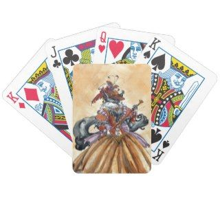 Mrs. Kitty Steampunk Victorian Bicycle Poker Cards