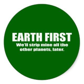 FIRST   WELL STRIP MINE THE OTHER PLANETS L STICKER