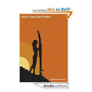Surfer Cross Stitch Pattern eBook: Mother Bee Designs: