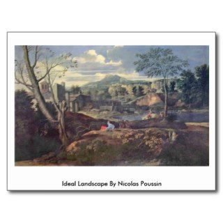 Ideal Landscape By Nicolas Poussin Post Cards
