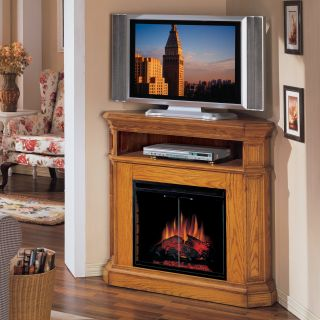 Classic Flame Glendale Corner Entertainment Electric Fireplace   Oak