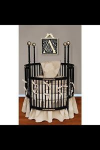 New Baby Doll Bedding Sensation Round Crib Bedding Set Gold