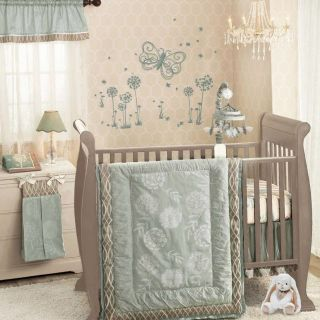 Lambs Ivy 7 Piece Baby Nursery Crib Bedding Set Tiffany Includes Mobile New
