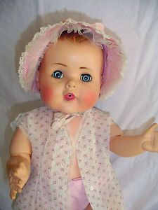 """Vintage American Character Toodles Jointed Baby Doll 20"""" Original Clothing"""
