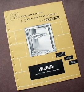 Vtg 1950 Hall Mack Bathroom Accessories Catalog Concealed Los Angeles CA