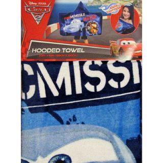 Disney Pixar Cars 2 Finn McMissile Mater Kids Beach Pool Bath Hooded Towel New