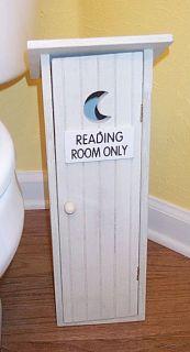 Outhouse Toilet Paper Storage Holder Lodge Decor Bath
