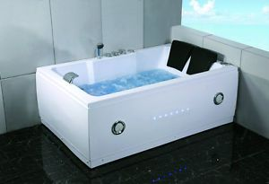 New 2 Person Indoor Whirlpool Jacuzzi Hot Tub Spa Hydrotherapy Massage Bathtub