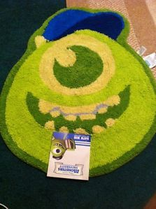 Disney Pixar Monsters University Inc Bathroom Shower Mat Rug Mike Wazowski