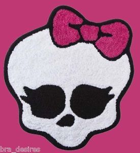 Monster High Skull Decorative Bathmat Bath Rug Brand New