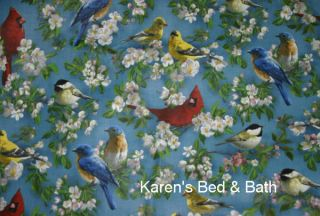Songbirds Scenic Bird Kitchen Cabin Lodge Curtain Valance New