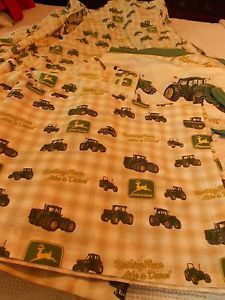 John Deere Twin Bed Set Comforter Valances Curtains Sheet Set 7 Pieces
