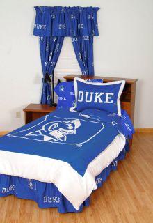 7pc NCAA Duke Blue Devils Collegiate Full Bedding Set Comforter Sheets Sham