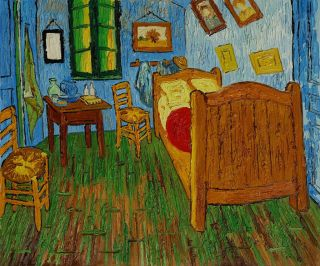Vincent Van Gogh Bedroom at Arles Abstract Oil Painting Canvas Art Reproduction
