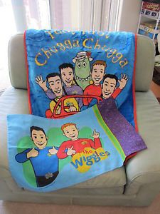 The Wiggles TOOT Chugga Big Red Car Plush Luxury Blanket Throw and Pillowcase