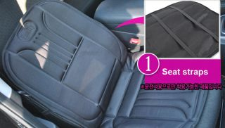New Car Automotive Heated Auto Seat Cover Cushion 12 Volt Black Warm Hot Cover