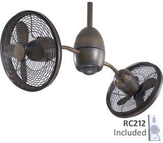 "Minka Aire 36"" Gyrette F302 ORB Bronze Dual Ceiling Fan"