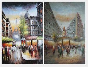 Paris Street Scenes Oil Paintings